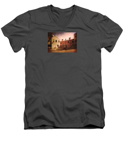 Men's V-Neck T-Shirt featuring the photograph Malamocco Corner No2 by Anne Kotan