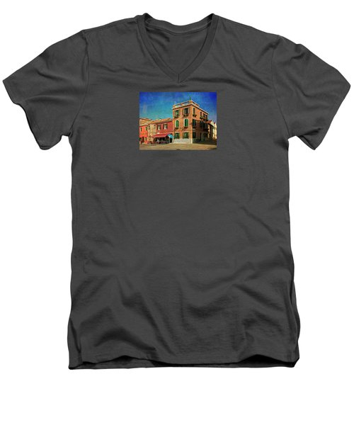 Men's V-Neck T-Shirt featuring the photograph Malamocco Corner No3 by Anne Kotan