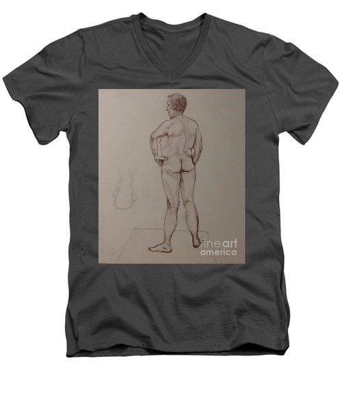Male Life Drawing Men's V-Neck T-Shirt
