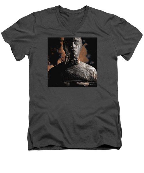 Male Masked Men's V-Neck T-Shirt