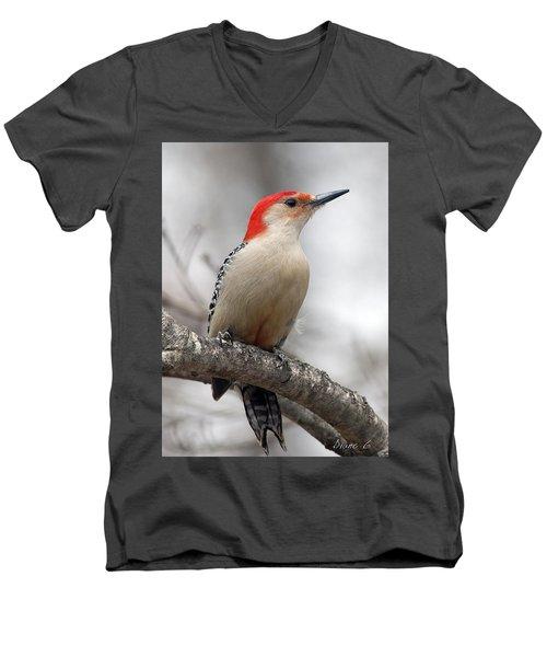 Male Red-bellied Woodpecker Men's V-Neck T-Shirt by Diane Giurco