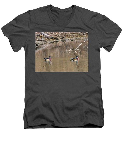 Male Wood Ducks Men's V-Neck T-Shirt