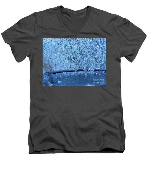 Malibu Icicles Men's V-Neck T-Shirt
