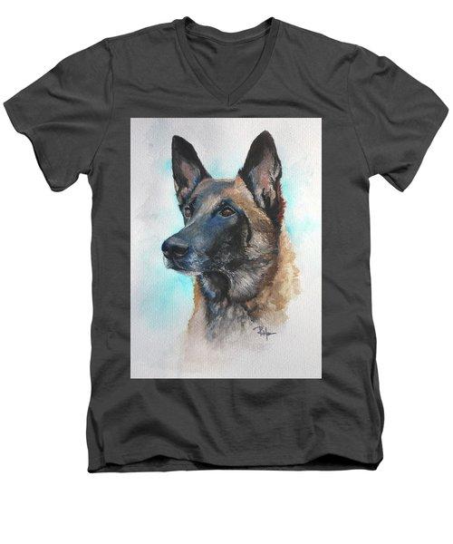 Malinois Men's V-Neck T-Shirt