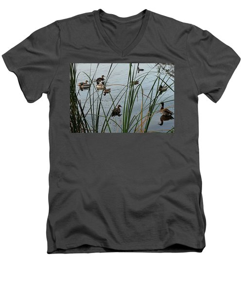 Mallard Migration Men's V-Neck T-Shirt