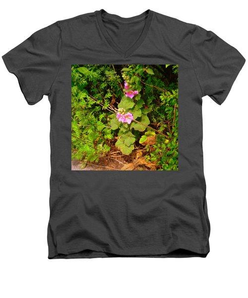 Mallow Pink Men's V-Neck T-Shirt