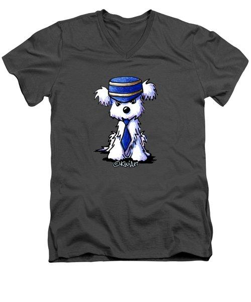 Maltese Conductor Men's V-Neck T-Shirt