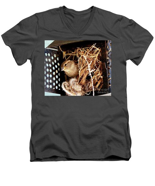 Mama Bird Men's V-Neck T-Shirt