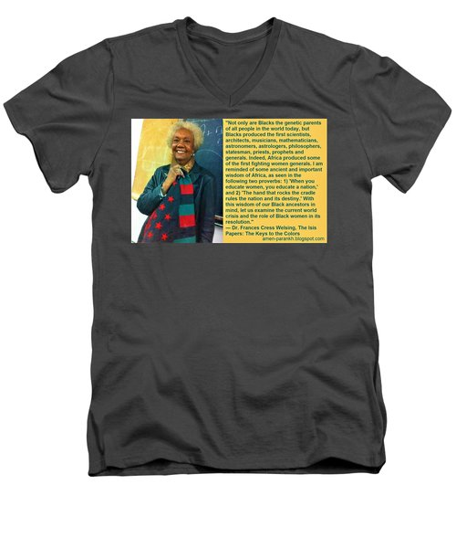Mama Frances Cress Welsing Men's V-Neck T-Shirt
