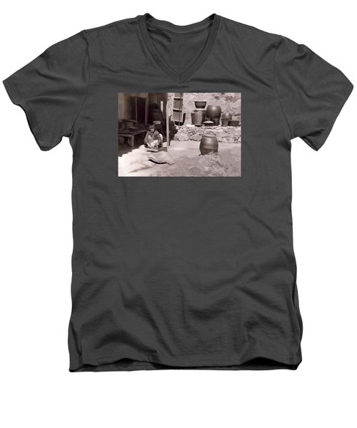 Men's V-Neck T-Shirt featuring the photograph Mamasan by Dale Stillman
