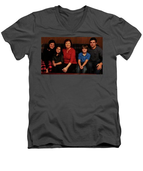 Men's V-Neck T-Shirt featuring the photograph Mamma And Kids by Gene Gregory