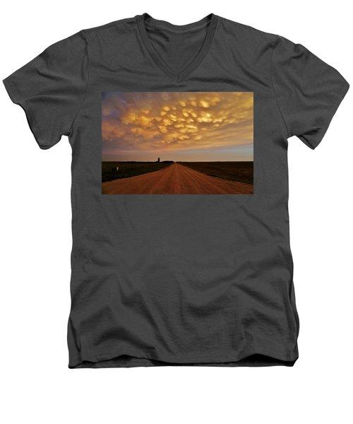 Mammatus Road Men's V-Neck T-Shirt by Ed Sweeney