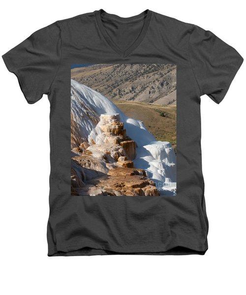 Mammoth Hot Springs  Men's V-Neck T-Shirt