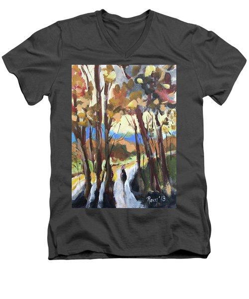 Man In The Woods Men's V-Neck T-Shirt