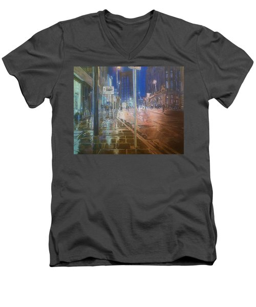 Manchester At Night Men's V-Neck T-Shirt