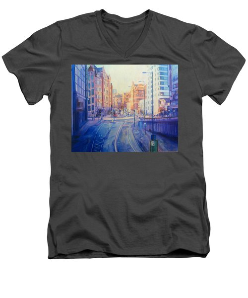 Manchester Light And Shade Men's V-Neck T-Shirt