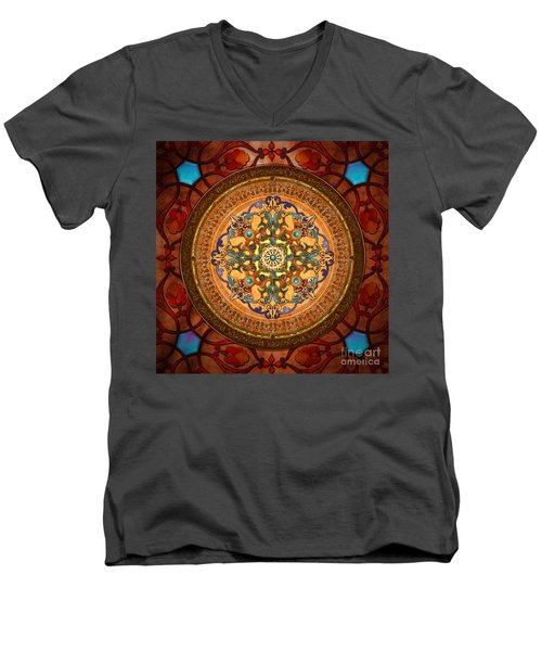 Mandala Arabia Men's V-Neck T-Shirt