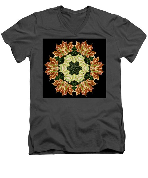 Mandala Autumn Star Men's V-Neck T-Shirt