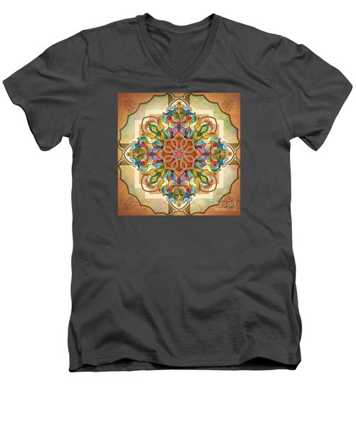 Mandala Birds Men's V-Neck T-Shirt