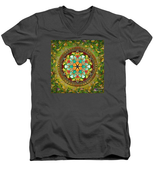 Mandala Evergreen Men's V-Neck T-Shirt