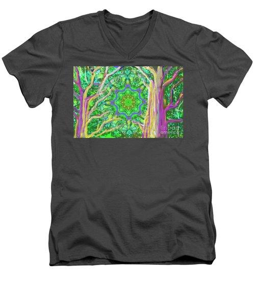 Mandala Forest Men's V-Neck T-Shirt