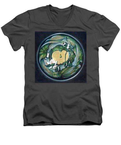Mandala Of Regeneration Men's V-Neck T-Shirt by Anna Ewa Miarczynska