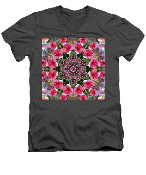 Mandala Pink Patron Men's V-Neck T-Shirt