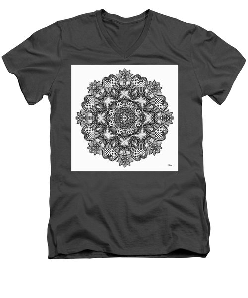 Mandala To Color 2 Men's V-Neck T-Shirt by Mo T