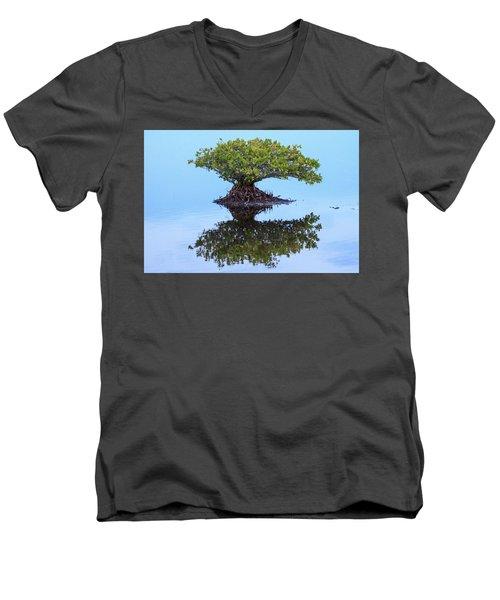 Mangrove Reflection Men's V-Neck T-Shirt