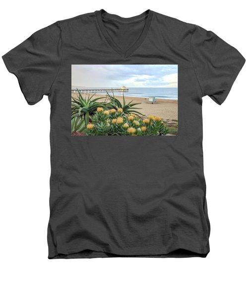 Manhattan Beach View Men's V-Neck T-Shirt