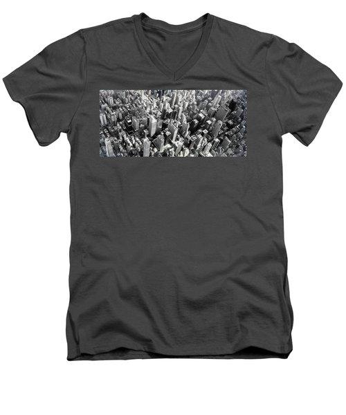 Men's V-Neck T-Shirt featuring the photograph Manhattan  by Chris Fraser