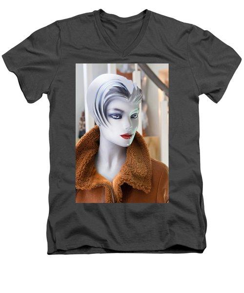 Mannequin 74a Men's V-Neck T-Shirt