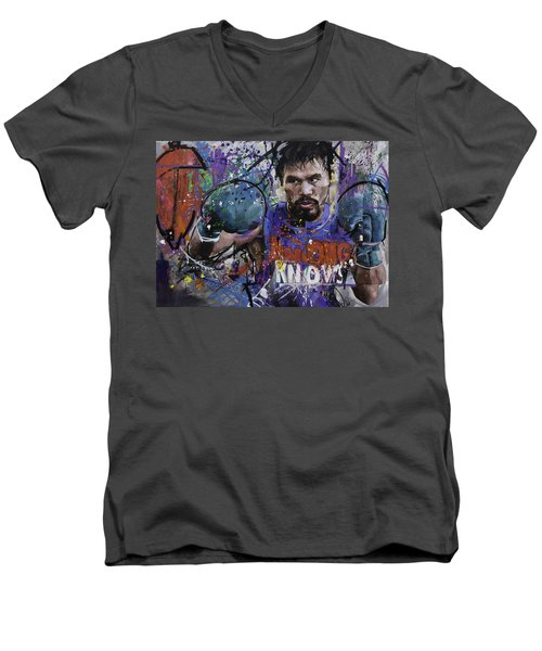 Manny Pacquiao Men's V-Neck T-Shirt