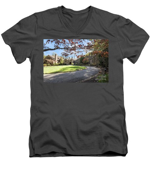 Mansion At Ridley Creek Men's V-Neck T-Shirt by Judy Wolinsky