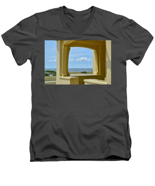 Mansion View Men's V-Neck T-Shirt by JAMART Photography