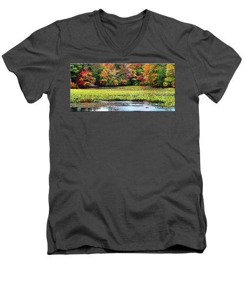 Many Colors Of Autumn Men's V-Neck T-Shirt by Mikki Cucuzzo