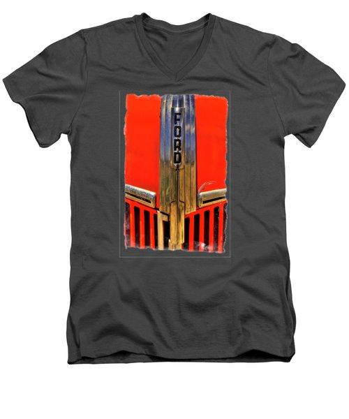 Manzanar Fire Truck Hood And Grill Detail Men's V-Neck T-Shirt by Roger Passman