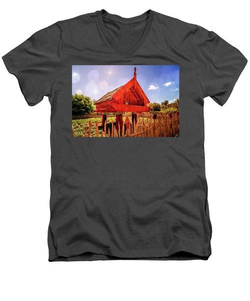 Maori Gathering Place Men's V-Neck T-Shirt