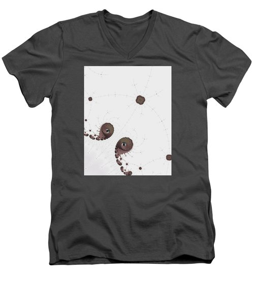 Men's V-Neck T-Shirt featuring the photograph Map Of Fractal Islands Detail by Ronda Broatch