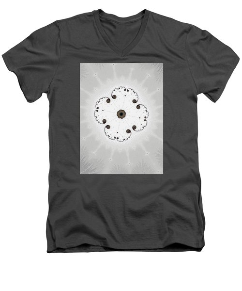 Men's V-Neck T-Shirt featuring the photograph Map Of Fractal Islands by Ronda Broatch