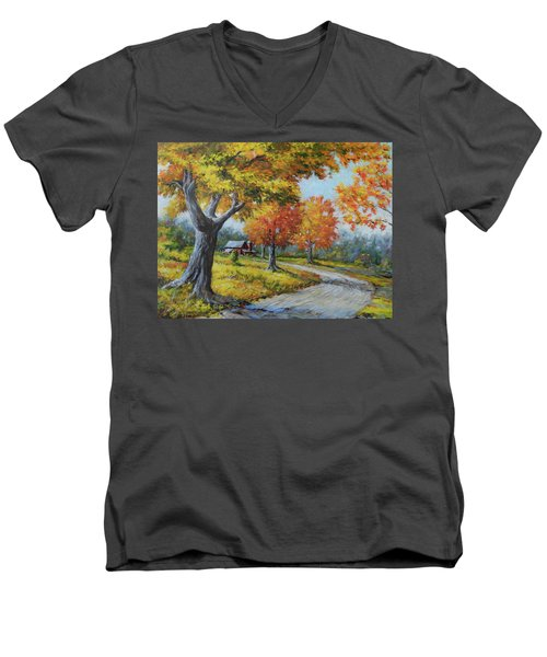 Maple Road Men's V-Neck T-Shirt
