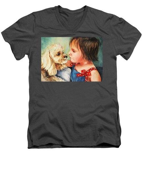 Mara Meets Mocha Men's V-Neck T-Shirt