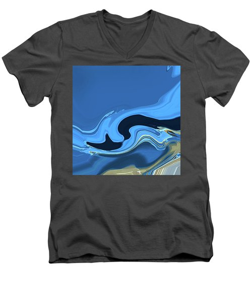Marbled Men's V-Neck T-Shirt