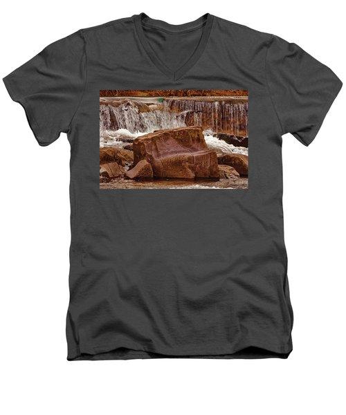 Marble Creek Shut-ins Men's V-Neck T-Shirt by Robert Charity