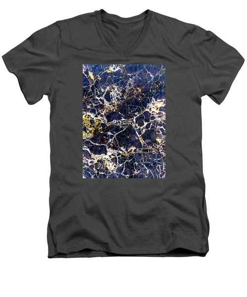 Marble Stone Texture Wall Tile Men's V-Neck T-Shirt by John Williams
