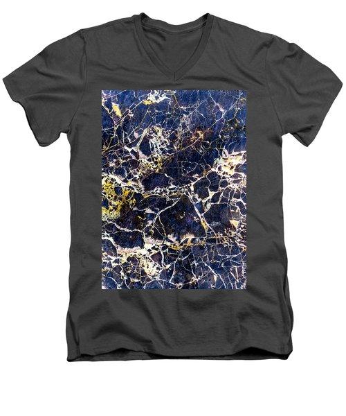 Marble Stone Texture Wall Tile Men's V-Neck T-Shirt