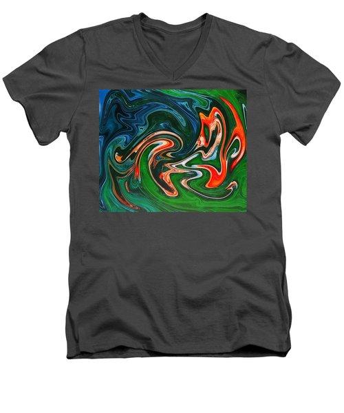 Marble Texture Men's V-Neck T-Shirt by Anton Kalinichev