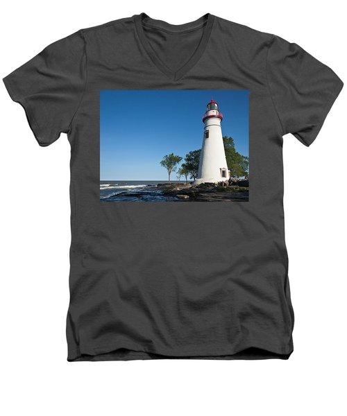 Marblehead Lighthouse Men's V-Neck T-Shirt