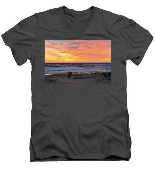 March 23 Sunrise  Men's V-Neck T-Shirt