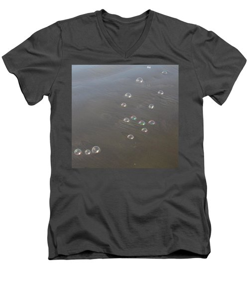 March Of The Bubbles Men's V-Neck T-Shirt by Marie Neder